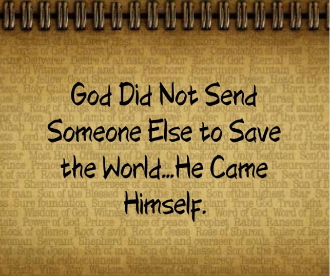 God Didn't Send Someone Else