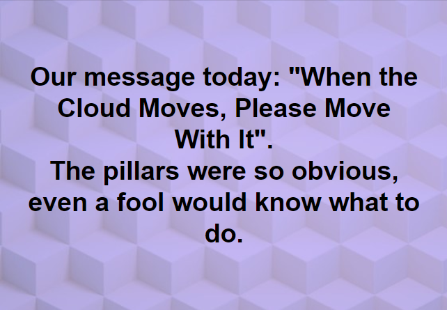 When the Cloud Moves, Move With It
