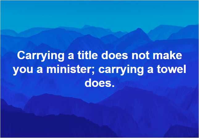 Definition of a Minister