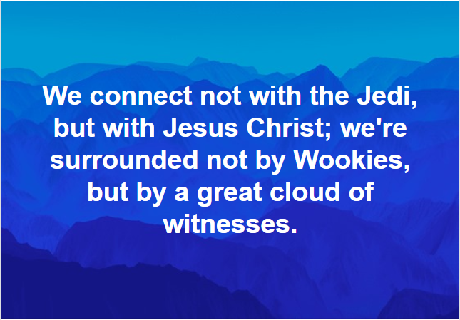 Jesus has all the Force Necessary